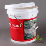 Printing 16liter PP/PE Plastic Paint Bucket Pail Easily Tear off