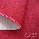 F-R Faux Linen 100% Polyester Coated Fabric