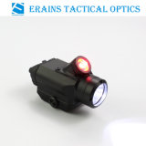 Tactical Compact Pistol Weapon 225 Lumens CREE Q5 LED Flashlight with 45 Degree 25 Lumens Red LED Light /Torch (ES-45QD)