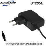 12VDC 500mA CCTV Camera Power Adapter with EU Plug (S1205E)