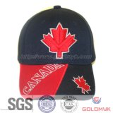 Maple Leaf Embroidery Six Panels Sport Cap (GKA01-A00058)