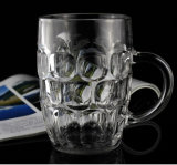 Cheap Crystal Glass Beer and Coffee Mug with Handle