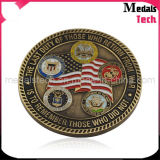 High Quality Custom Wholesale Antique Bronze Soft Enamel Coins