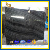 Black Wood Marble Slabs &Tiles for Wall & Floor Covering, Antique, Ancient Wood, Silver Wave, Rosewood Grain&Veins, Black Forest, China Mercury Black Marble