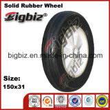 Thermoplastic 150mm Black Rubber Caster Wheel