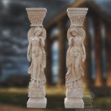 Hand Carved Sculpture Marble Column for Decoration