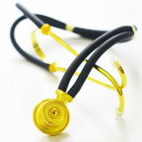 Sw-St03c Personalized Medical Equipment Stethoscope for Deluxe Dual Head Gold Stethoscope