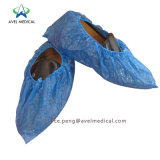 Disposable PP Nonwoven Plastic SMS/PE/CPE Coated Anti Skid Slip Hospital Cleanroom Lab Boot Foot Cover Water Proof Protective Medical Shoe Cover with Color