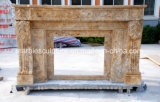 Travertine Stone Decoration Marble Fireplace Carving (SY-MF358)