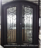 High Quality Wrought Iron Entry Door From China (UID-D034)