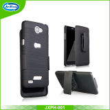 Rubberized Kickstand Armor Combo Holster Phone Cover for LG X165g Bello2