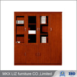 High End Wooden 4 Door Storage Furniture Bookshelf Filing Cabinet (0406)
