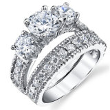 Wholesale 925 Sterling Silver with CZ Engagement Ring