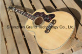 Tiger Flame Maple Solid Top J200 Acoustic Guitar in Natural (J200N)