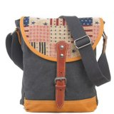 Colorfull Bag Cover Canvas Backpack with Leather Shoulder Strap (RS-6002A)