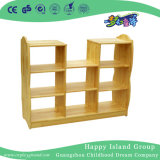 School Simple Rustic Wooden Partition Shelf (HG-4206)