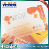 Clear Custom Printed PVC Card Transparent Plastic Card for Festival Gift