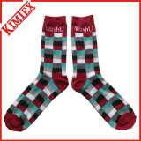 Fashion Cheap Colored Jacquad Socks Sport Athletic MID Claf Ribbed Crew Dress Sock