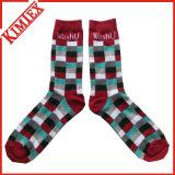 Fashion Cheap Colored Jacquard Socks Sport Athletic MID Calf Ribbed Crew Dress Sock