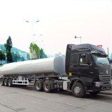 Tri-Axle 45000L Fuel Tanker Semi Trailer with A7 Tractor Truck