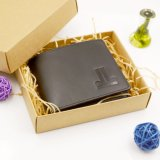 Euorpe Style Hot Stamped Black Authentic Leather Wallet Men Wallet