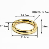 Hot Sale Metal Zinc Alloy Round Ring Buckle for Bag Parts Belt Buckle Shoes Leather Goods Accessories (YK941)