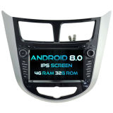 Witson Eight Core Android 8.0 Car DVD for Hyundai Verna 4G ROM 1080P Touch Screen 32GB ROM IPS Screen