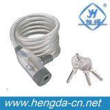 Yh1414 Transparent White Dustyproof Wire Retractable Cable Bike Lock