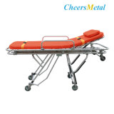 Mobile Stainless Steel Emergency Stretcher Trolley for Patient Transfer