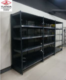 Supermarket Equipment Single Side Black Heavy Duty Shelf Displays