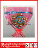 Plush Teddy Bear Flower Bouquet for Valentine′s Day