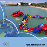 0, 55mm Tarpaulin Customized PVC Jumping Castle Outdoor Toy Inflatable Water Park
