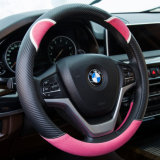 Rose Red Lovely Leather Steering Wheel Cover