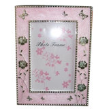 Fashion Photo Frame Holder with Flower and Epoxy Decorated
