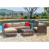 5 Pieces Cushioned Patio Rattan Outdoor Garden Furniture