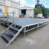 Outdoor Mobile Aluminum Alloy Portable Wooden Stage