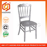 Silver Wooden Napoleon Chair for Banquet and Wedding