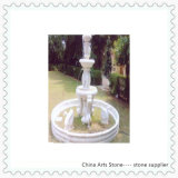 White Marble with Animal Fountain for Garden