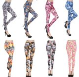2017 Wholesale Sexy Human Skeleton Printing Leggings for Women