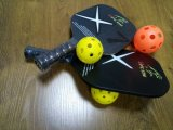 Pickle Ball Paddle Wood Core with Carbon Surface Pickle Ball Stick