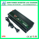 300W 12V DC to AC 110V/220V Solar Power Inverter with Charger (QW-M300UPS)