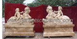 Garden Stone Statue Marble Sculpture with Carved Stone (SY-X1118)