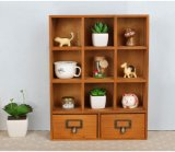 Cheap Custom Logo Small Wooden Shelf Storage Rack