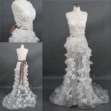 Wholesale Customize Beading Sequins Lace Handsewn Bridal Dress Wedding Gown