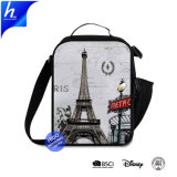 Eiffel Tower Primary Student Sling Gym Food Cooler Bag for Kids