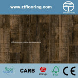 6.5mm WPC Click Flooring Distressed Dark Brown Pine