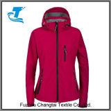 Ladies Hooded Windproof Softshell Jacket