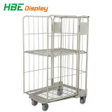 Laundry Srorage Logistic Roll Container Roll Trolley with Brake Casters
