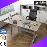 Walnut L Shaped Electric Height Adjustable Desk for Home Office Furniture
