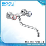 Boou Double Handle Fixing with Back to Wall Kitchen Faucet